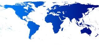 Vetor do mapa de mundo Foto de Stock