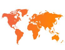 Vetor do mapa de mundo Fotografia de Stock Royalty Free