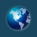 Vetor do mapa do globo do mundo Imagem de Stock Royalty Free