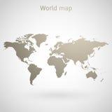 Vetor do mapa do mundo Fotos de Stock Royalty Free
