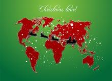 Vetor do mapa do Natal Foto de Stock