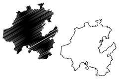 Vetor do mapa do estado do fidalgo ilustração do vetor
