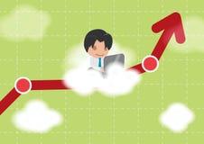 Vetor do mercado de valores de ação da nuvem do trabalho do homem Ilustração Stock