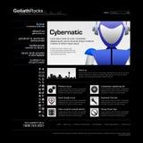 Vetor do molde 12 do projeto de Web (tema preto) Imagem de Stock