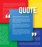 Vetor do molde das citações da motivação do retângulo Foto de Stock Royalty Free