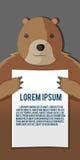 Vetor do molde do fundo do papel da posse do urso ilustração royalty free