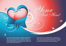 Vetor do molde do Valentim Imagens de Stock