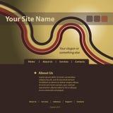 Vetor do molde do Web site Fotos de Stock Royalty Free