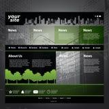 Vetor do molde do Web site Imagens de Stock Royalty Free