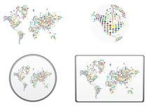 Vetor do mundo Imagens de Stock