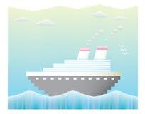 Vetor do navio de cruzeiros Fotografia de Stock Royalty Free