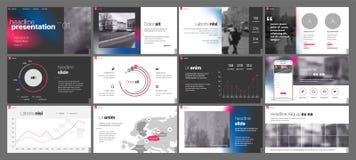 Vetor do negócio da apresentação Template Elementos do inclinação para apresentações de corrediça em um fundo branco foto de stock