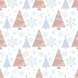 Vetor do ornamento da celebração da estrela da neve de dezembro da estação do projeto do abeto do feriado da árvore de Natal do i ilustração royalty free