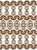 Vetor do ornamento de Brown Imagens de Stock
