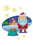 Vetor do papel de parede de Papai Noel do Natal Fotos de Stock Royalty Free
