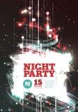 Vetor do partido da noite Imagem de Stock