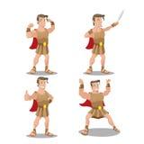 Vetor do personagem de banda desenhada do herói do deus de Hercures Foto de Stock Royalty Free
