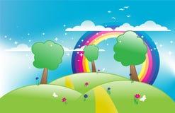 Vetor do prado da mola Imagem de Stock Royalty Free