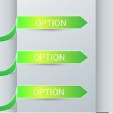 Vetor do projeto das etiquetas das opções dos elementos de Infographics Fotografia de Stock