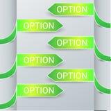 Vetor do projeto das etiquetas das opções dos elementos de Infographics Foto de Stock