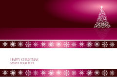 Vetor do projeto de cartão do Natal Fotografia de Stock