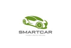 Vetor do projeto de Logo Futuristic do carro de Eco elétrico ilustração stock