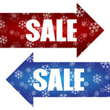 Vetor do projeto do cartaz da venda do disconto do Natal Imagem de Stock Royalty Free
