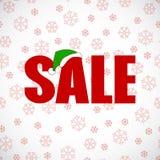 Vetor do projeto do cartaz da venda do disconto do Natal Fotos de Stock Royalty Free