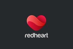 Vetor do projeto do logotipo do coração amor do dia de são valentim cartão Fotografia de Stock