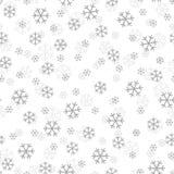 Vetor do projeto dos flocos de neve do Natal sem emenda Foto de Stock Royalty Free