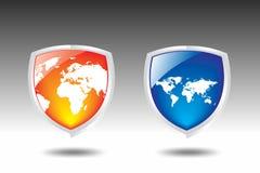 Vetor do protetor do mapa de mundo Foto de Stock