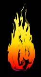 Vetor do quadro do fogo com fundo preto Imagem de Stock
