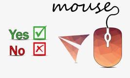 Vetor do rato do computador Imagem de Stock