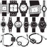 Vetor do relógio de forma Imagens de Stock