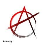 Vetor do símbolo do grunge da anarquia Foto de Stock