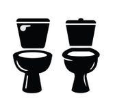 Vetor do símbolo do toalete ilustração royalty free