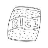 Vetor do saco do arroz ilustração royalty free