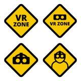Vetor do sinal do cuidado da zona de VR Foto de Stock