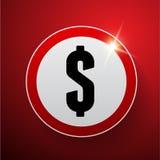 Vetor do sinal de dólar Fotos de Stock