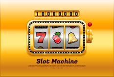 Vetor do slot machine Imagem de Stock
