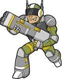 Vetor do soldado do espaço Imagens de Stock