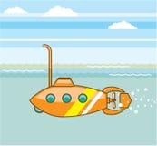 Vetor do submarino dos desenhos animados Fotografia de Stock Royalty Free