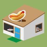 Vetor do suporte do Hotdog Imagens de Stock