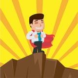 Vetor do suporte do vencedor do trabalhador do homem de negócio Fotografia de Stock Royalty Free