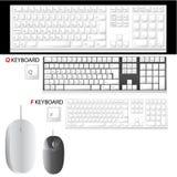 Vetor do teclado e do rato Foto de Stock