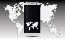 Vetor do telefone celular de Samsung S7 Android Imagens de Stock
