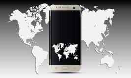 Vetor do telefone celular de Samsung S7 Android Foto de Stock