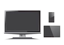 Vetor do telefone da tabuleta dos monitores Imagem de Stock Royalty Free