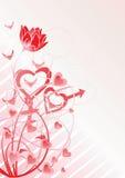 Vetor do tema do amor Imagem de Stock