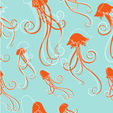 Vetor do teste padrão das medusa Foto de Stock Royalty Free